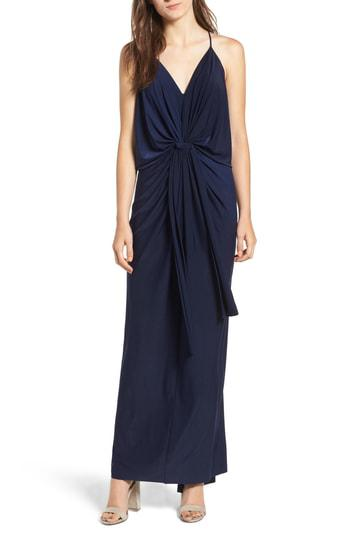 9a0153fee0fe Misa Domino Knot Maxi Dress In Black | ModeSens