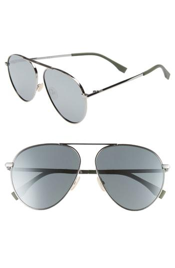 c467dc5997a Fendi 61Mm Aviator Sunglasses In Ruthenium