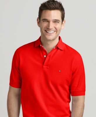 c9110698 Tommy Hilfiger Men'S Custom-Fit Ivy Polo In La Jolla Red | ModeSens