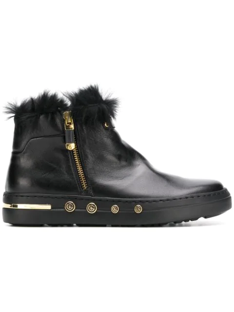pre order nice cheap best choice Baldinini Rabbit Fur Lined Ankle Boots In Black | ModeSens