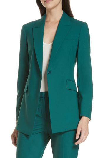 459823a092 Theory Etienette B Good Wool Suit Jacket In Bright Poplar | ModeSens