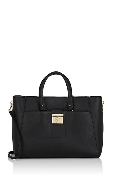 Versace Leather Shoulder Bag - Black