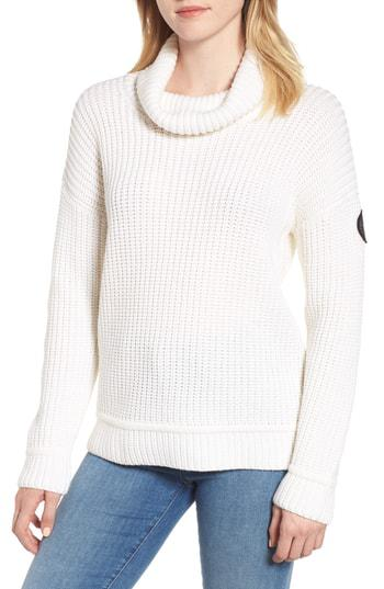 6884100e99327 Canada Goose Williston Wool Turtleneck Sweater In White