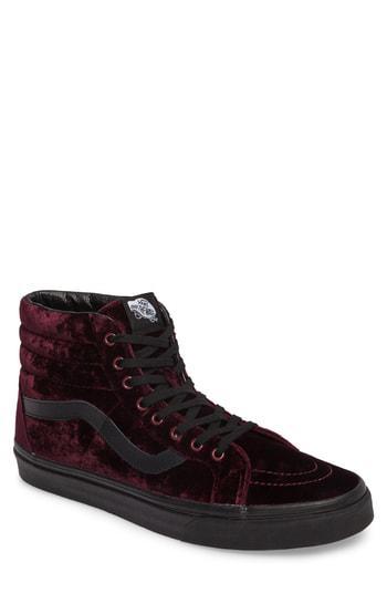 e410437b81d7 Vans Sk8-Hi Reissue High Top Sneaker In Red  Black Velvet
