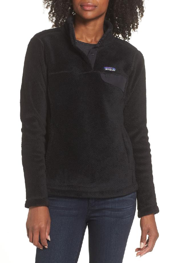 Patagonia Re-Tool Snap-T Fleece Pullover In Black