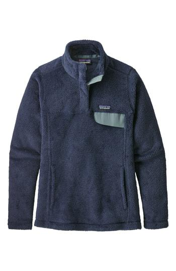 Patagonia Re-Tool Snap-T Fleece Pullover In Stone Blue