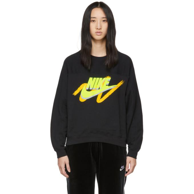 cddb40110 Nike Black Nsw Archive Crew Sweatshirt In 013 Black | ModeSens