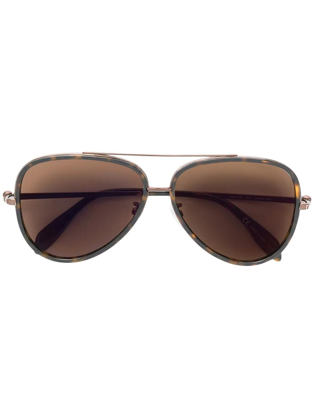 bb34c86c6b0 Alexander Mcqueen Eyewear Aviator Sunglasses - Brown