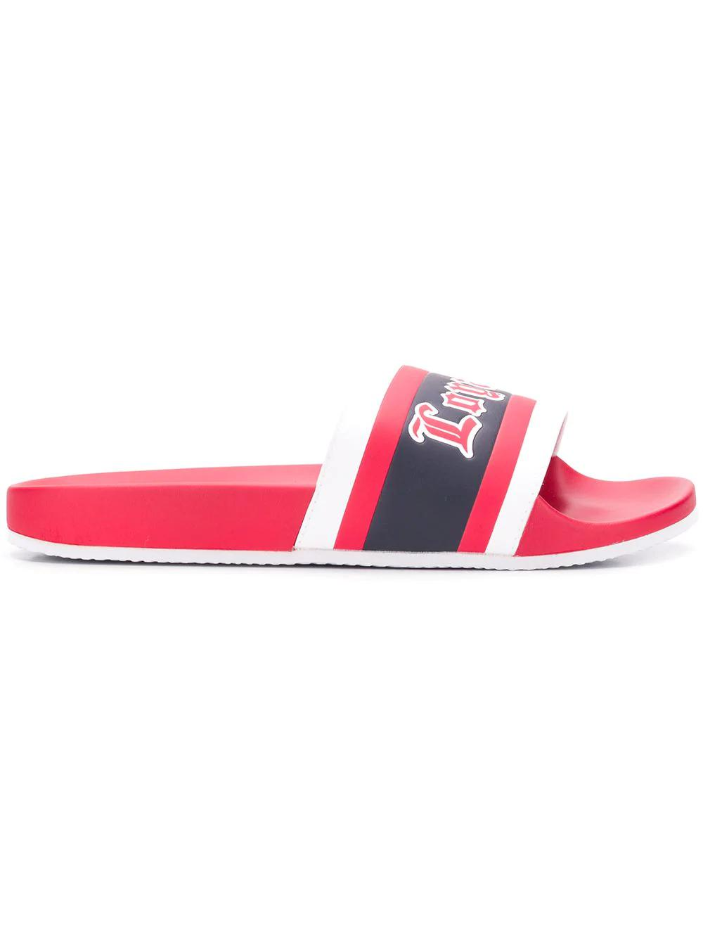 ee13379e289a42 Tommy Hilfiger Lewis Hamilton Loyal Sandal In Red