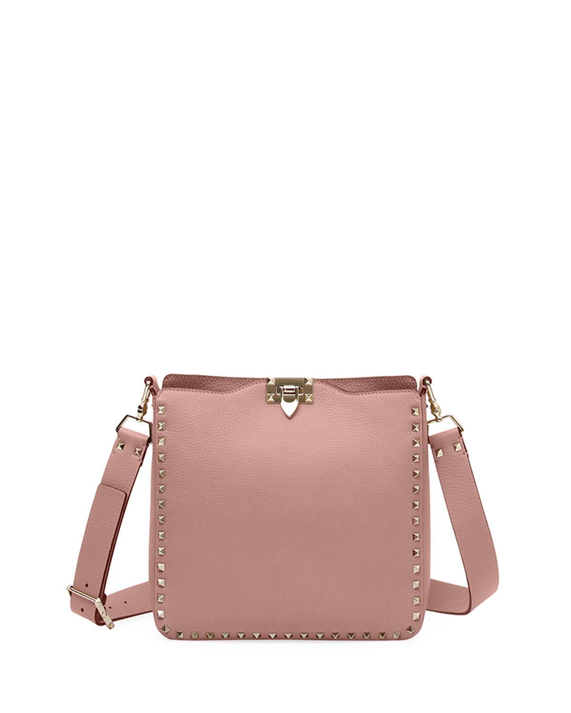 115a8f1d3cb4d Valentino Rockstud Small Vitello Leather Hobo Bag