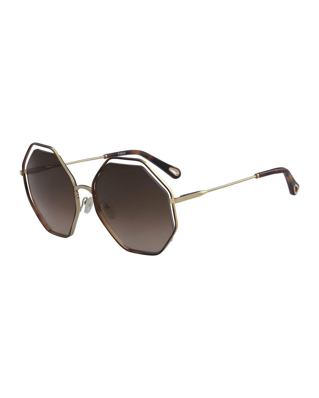 2cdc3171abc ChloÉ Poppy Geometric Sunglasses