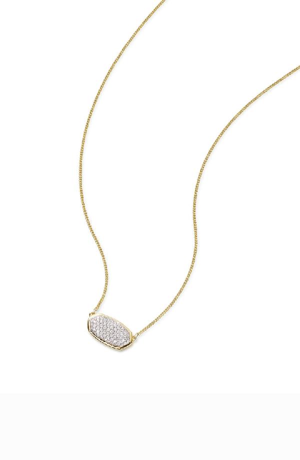 39c0148f24b39 Elisa Diamond Necklace In 14K Yellow Gold, 14K Rose Gold Or 14K White Gold,  15 in 14K Gold White Diamond