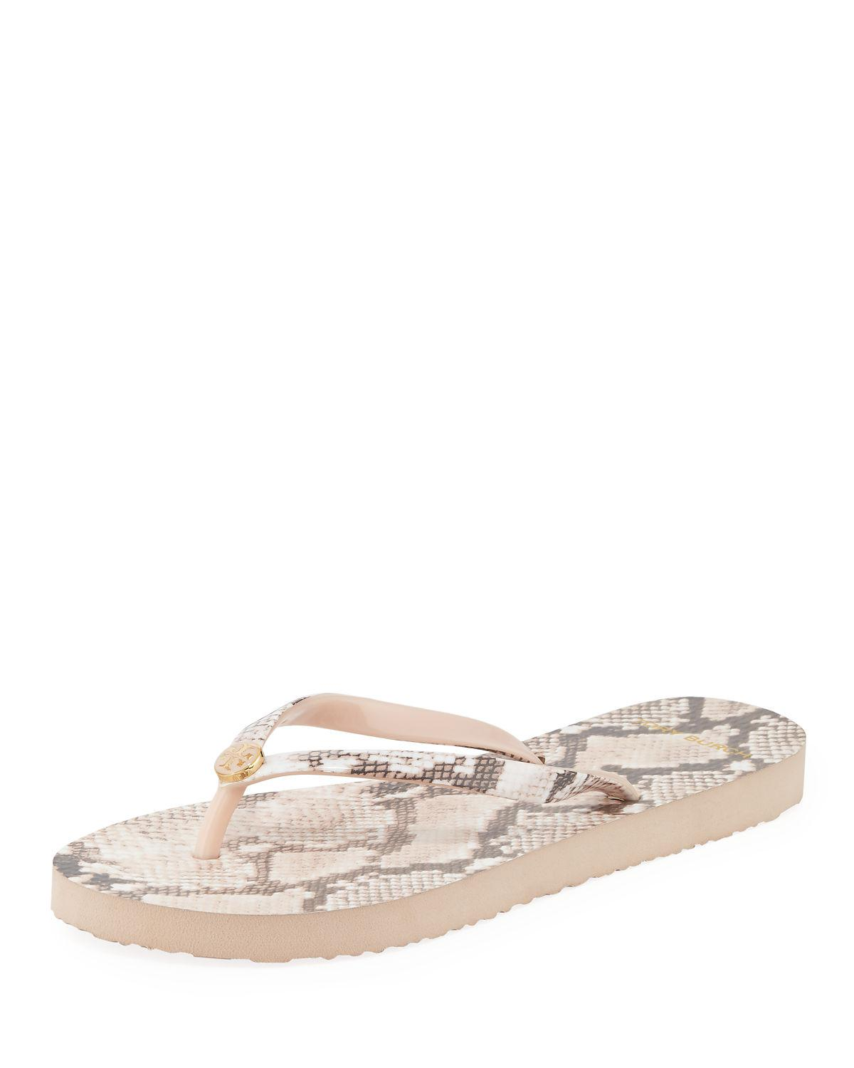 dbf504b03d37ae Tory Burch Printed Flip-Flop Sandals In Sunset Blush Roccia