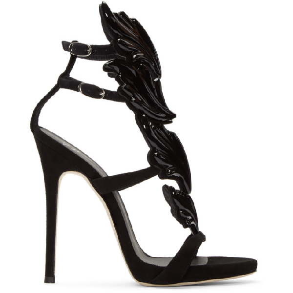 Giuseppe Zanotti Women's Cruel Coline Wing Embellished High-Heel Sandals In 72070 Black