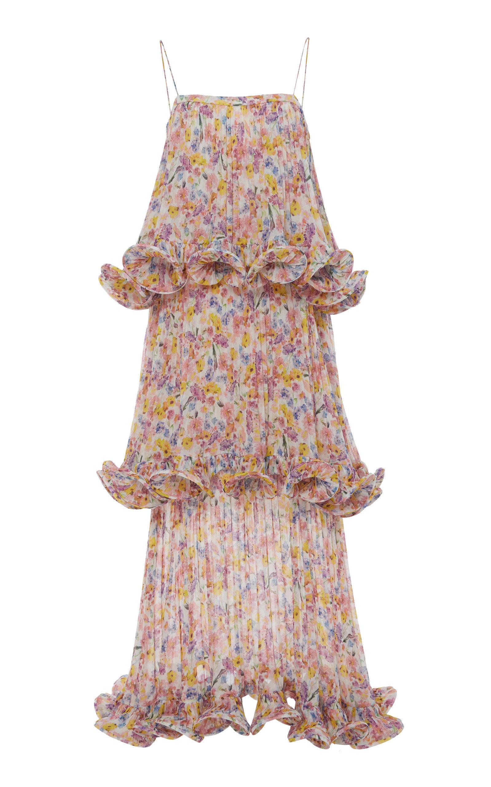 59b470c4d4cc9f Amur Dewy Tiered Floral-Print Chiffon Maxi Dress   ModeSens