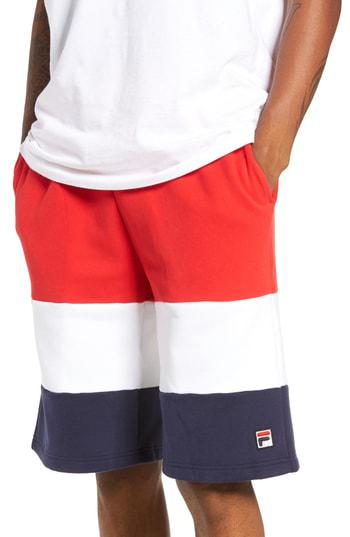6485cca8492a Fila Alanzo Shorts In Chinese Red  White  Navy