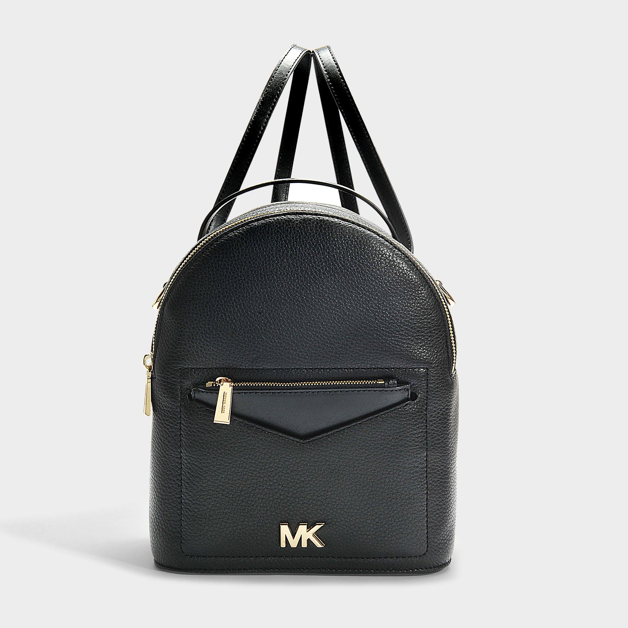 96d2b6a866a8 Michael Michael Kors | Jessa Small Convertible Backpack In White Calfskin  In Black