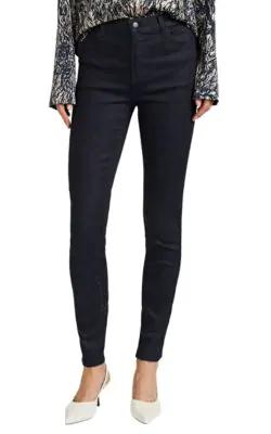 J Brand Maria High Waist Skinny Jeans In Black