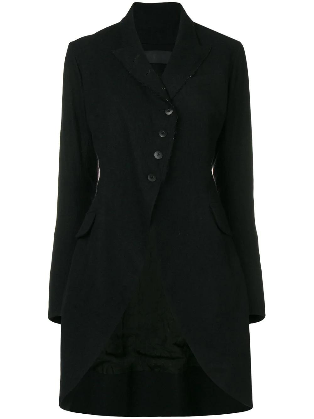 Marc Le Bihan Single Breasted Coat - Black