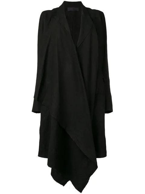 Marc Le Bihan Draped Coat - Black