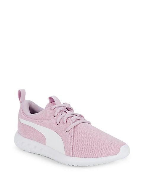 Puma Carson 2 Mesh-Knit Sneakers In Purple  0e7573db2