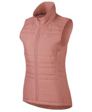 Nike Essential Running Vest In Rust Pink