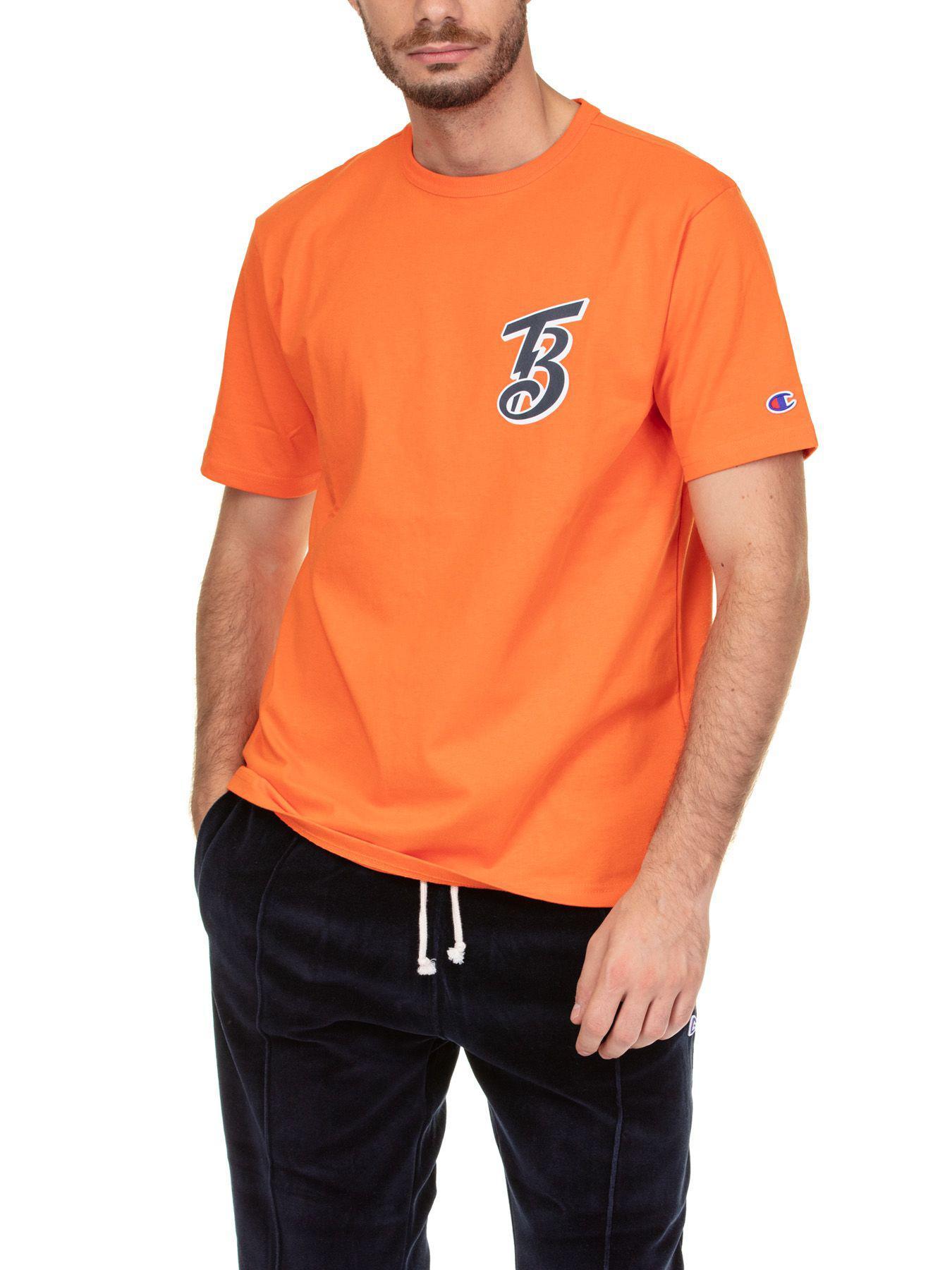 b92bb935 Champion Crewneck T-Shirt In Orange | ModeSens