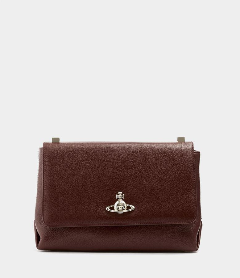 96181df14cb Vivienne Westwood Balmoral Large Bag With Flap Burgundy | ModeSens