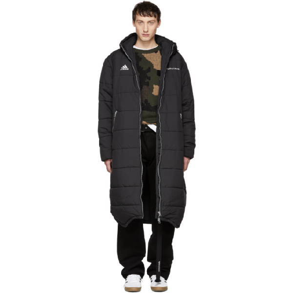 c7e08e2a4 Black Adidas Originals Edition Long Puffer Jacket in Black 1