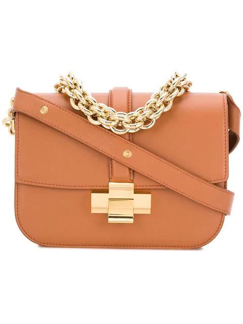 N°21 Chain Crossbody Bag In Brown