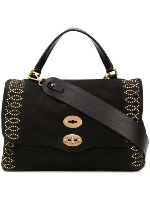 Zanellato Studded Tote Bag In Black