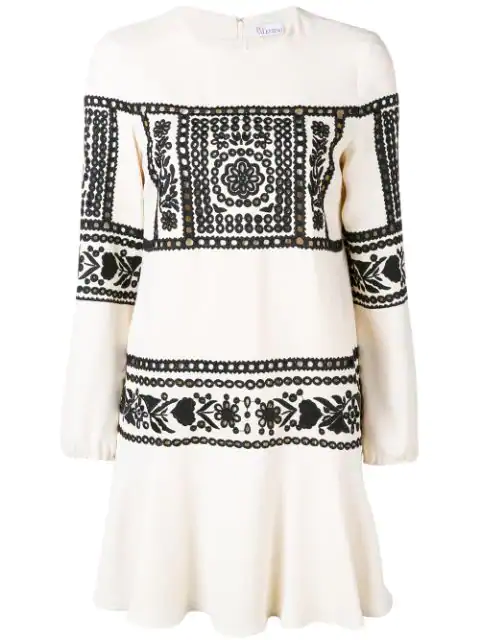 Red Valentino Lace Embroidered Dress White