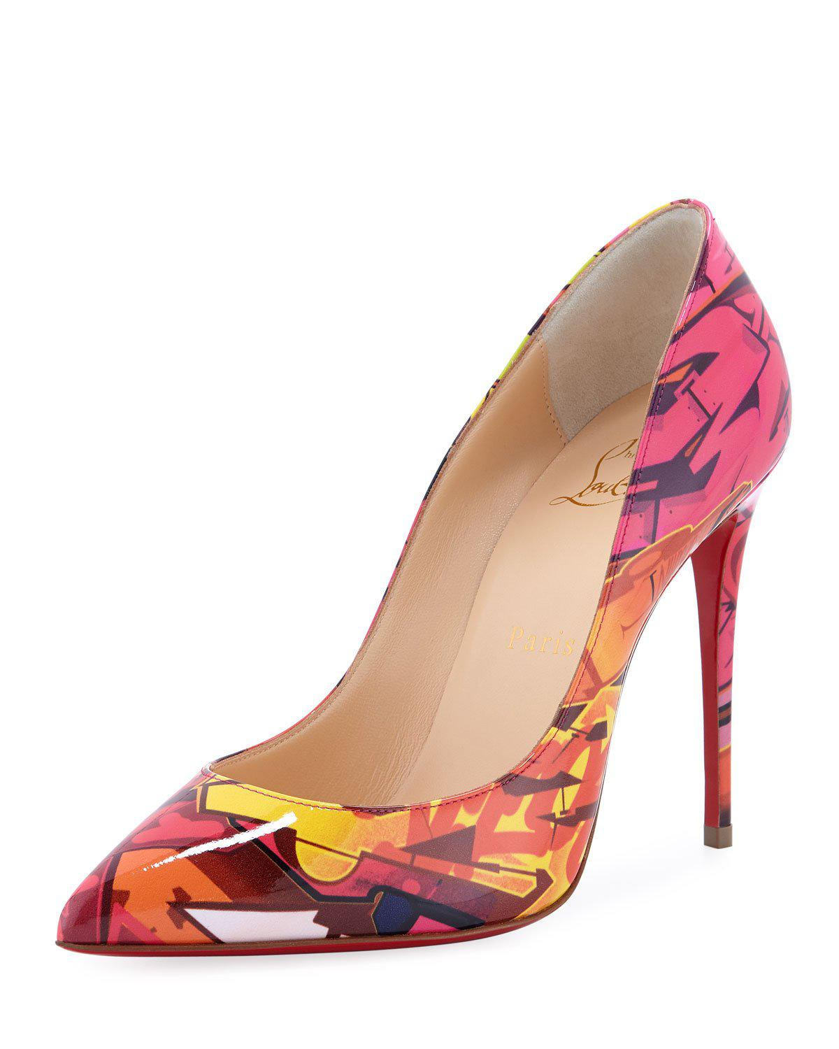 e44bb254ca2a Christian Louboutin Pigalle Follies 100Mm Patent Metrograf Red Sole Pumps  In Pink