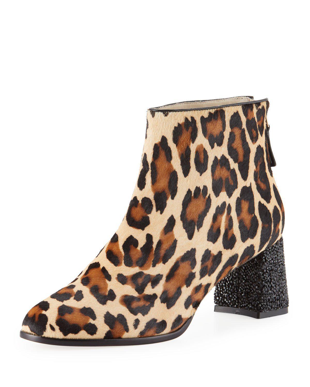 Sophia Webster Stella Leopard-Print Ankle Boots