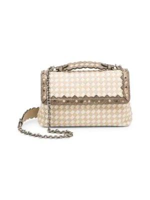 c60f7f794 Bottega Veneta Olimpia Small Check Shoulder Bag In Bronze | ModeSens