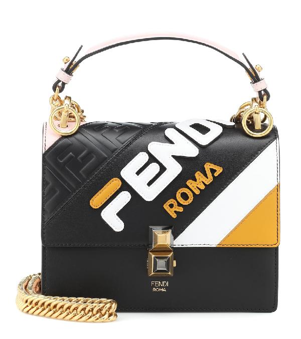 3d7b21e234 Fendi X Fila Small Kan I Mania Logo Shoulder Bag - Black