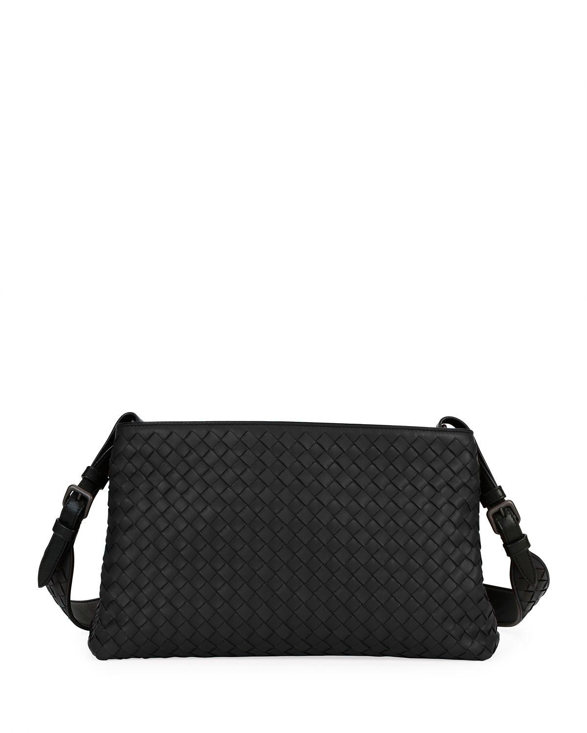 Bottega Veneta Intrecciato Leather Tote Bag In Black