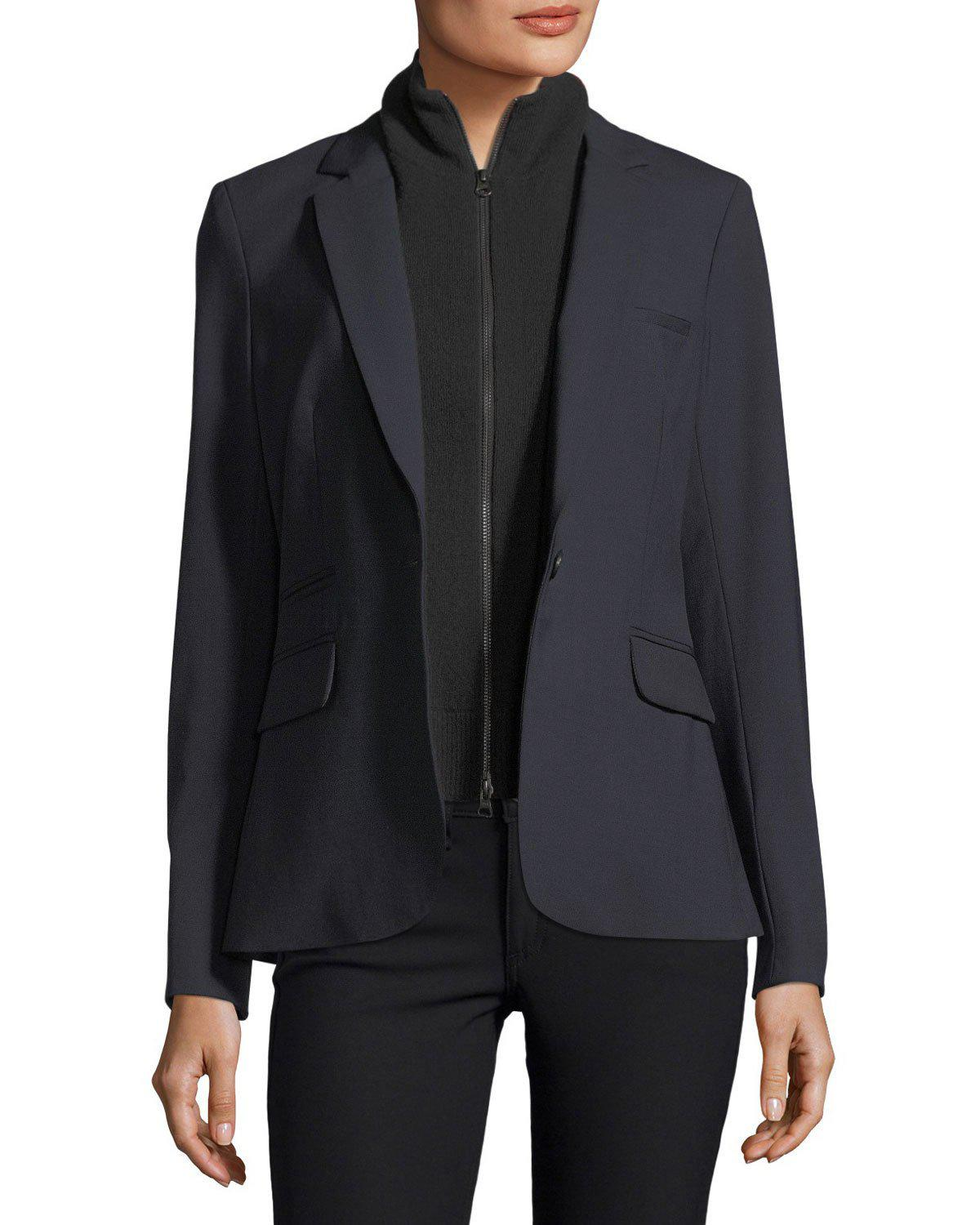 4f12c76b8e3 Veronica Beard Cashmere Uptown Zip-Front Dickey In Black
