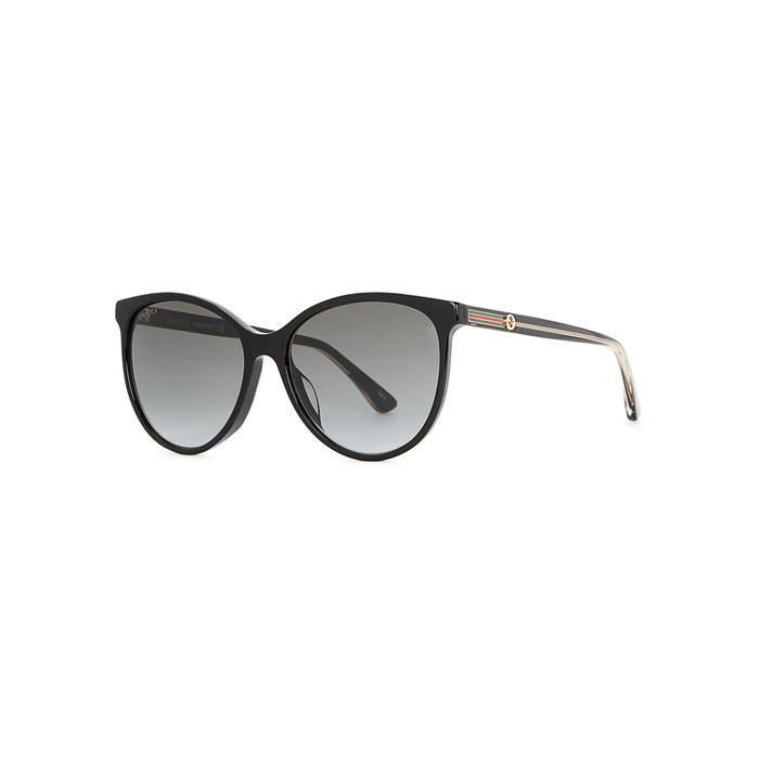 Gucci Black Oval-Frame Sunglasses