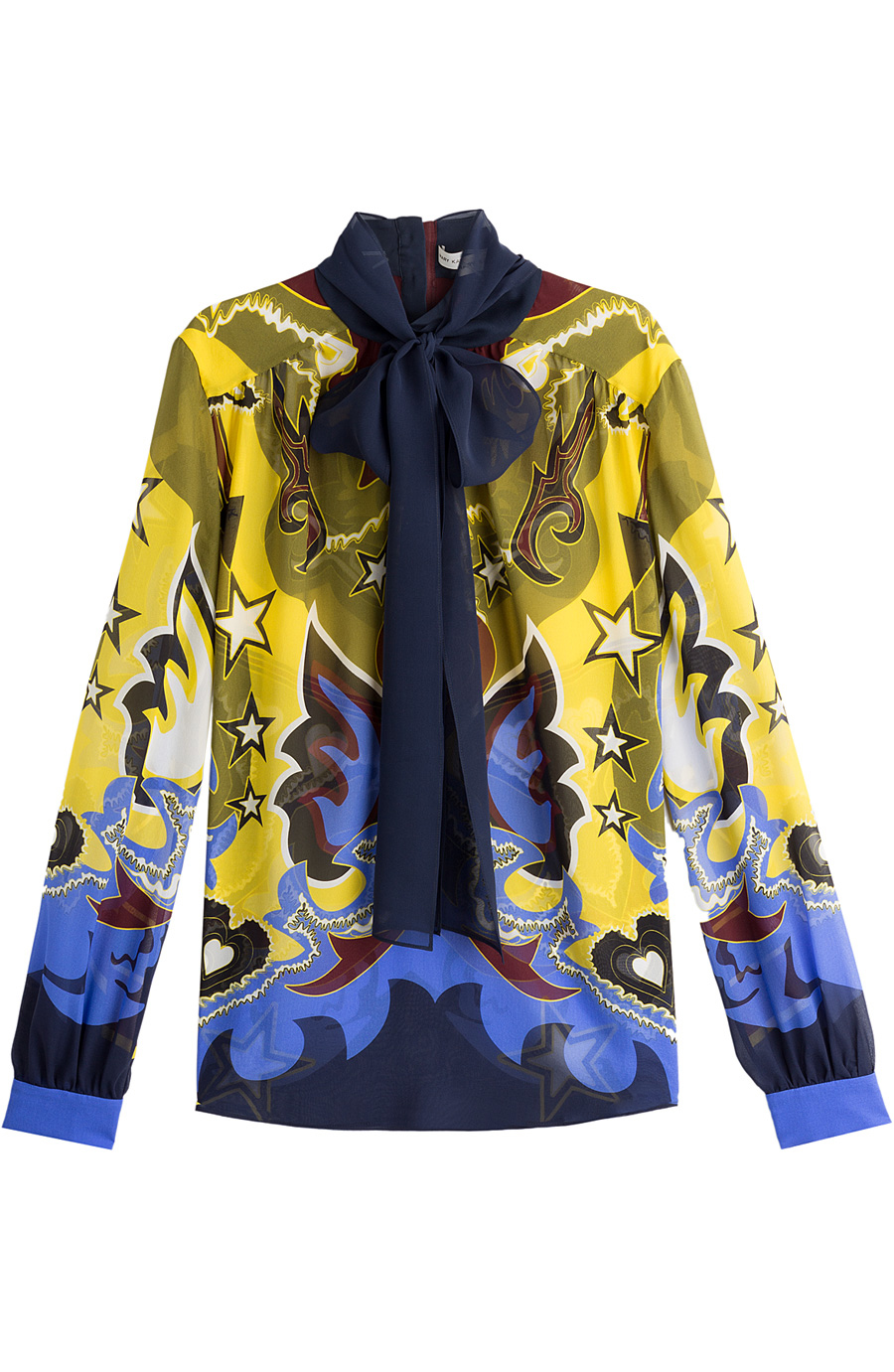 Mary Katrantzou Printed Silk Blouse In Multicolored
