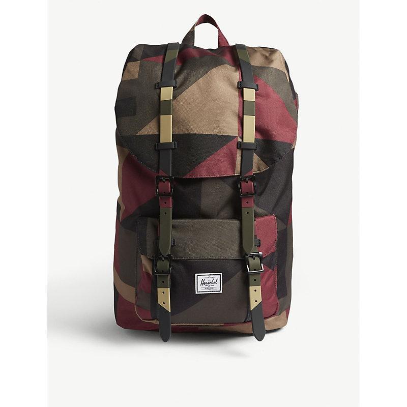 de6ab0b4bae Herschel Supply Co Little America Backpack In Winds Wine Front Geo ...