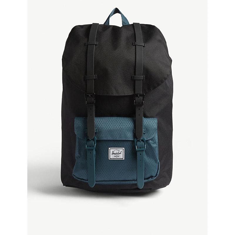 12b02482be8 Herschel Supply Co Little America Backpack In Black Deep Teal