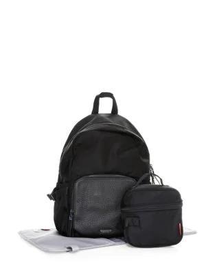 Storksak Hero Luxe Two-piecebackpack Diaper Bag Set In Black