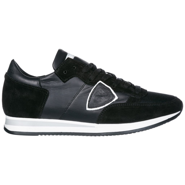 Philippe Model Sneakers In Leather And Suede In Black