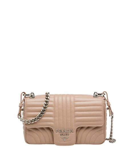 10866e9382a1 Prada Diagramme Medium Leather Shoulder Bag In Pink | ModeSens
