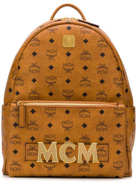 700e4e03b817 Mcm Trilogie Stark Backpack In Visetos In Brown   ModeSens