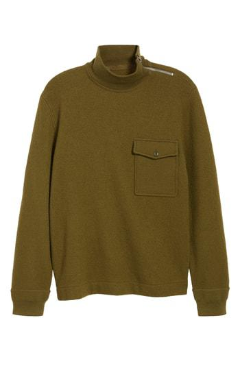 5f5e43c878a8 J.Crew Wallace   Barnes Felted Merino Wool Mock Neck Pullover In Orchard  Green