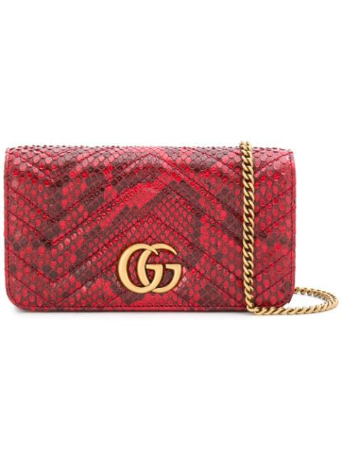 Gucci Gg Marmont Crossbody Bag - Red
