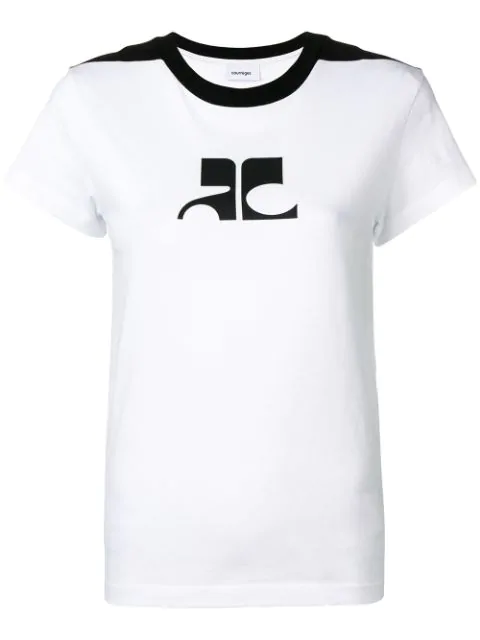 CourrÈGes Logo Printed T-Shirt - White