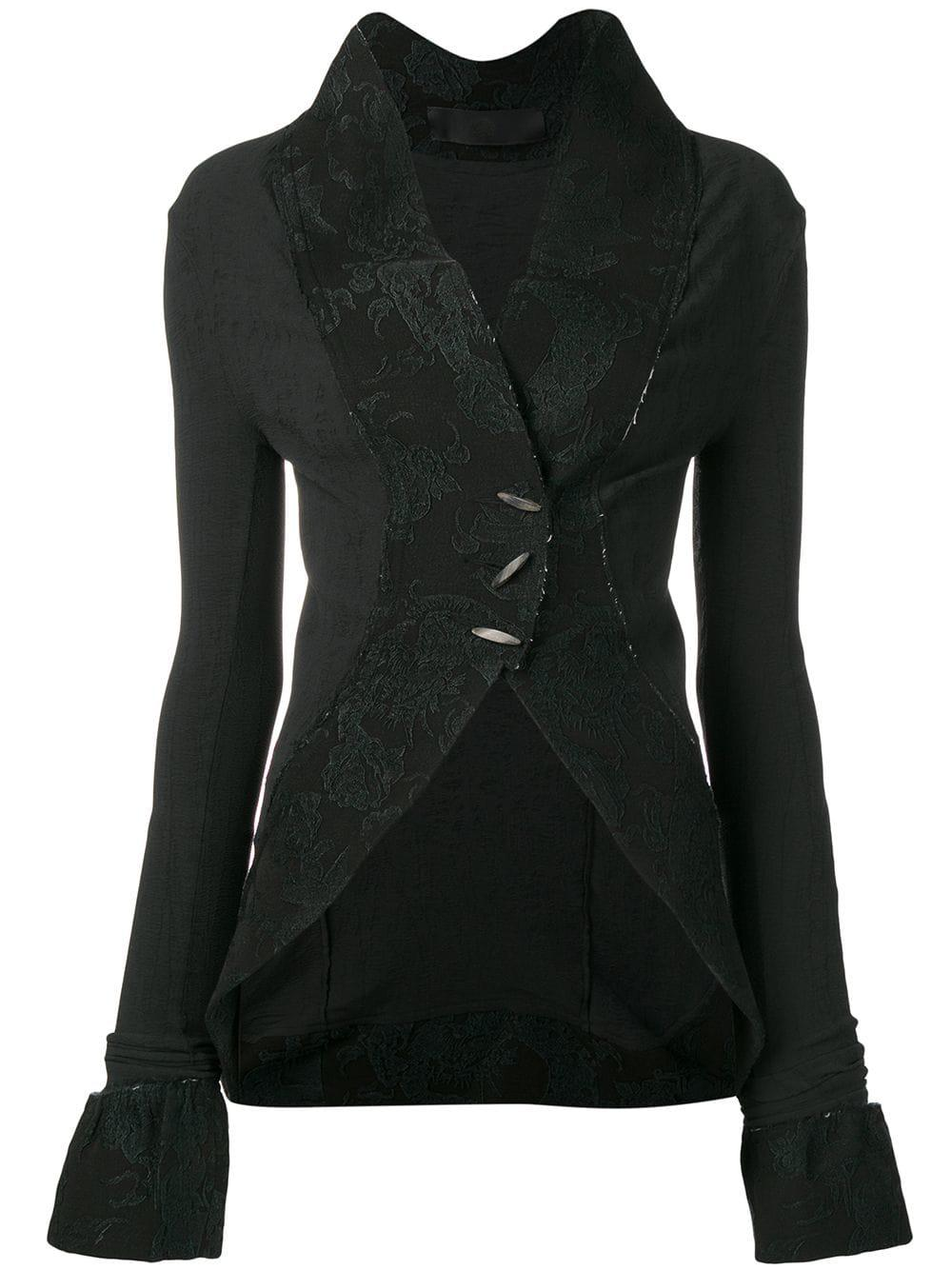Marc Le Bihan Fitted Toggle Jacket In Black